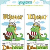 jeu de différence dinosaure viking