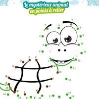 L'activité du mercredi : Un animal mystère en points à relier