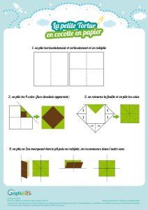 plan pliage cocotte en papier