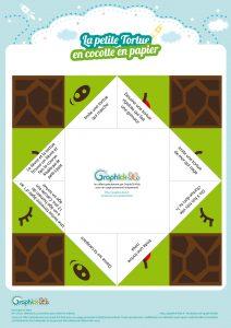 cocotte en papier tortue DIY kids
