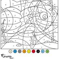 L'activité du mercredi : le coloriage magique du poisson d'avril