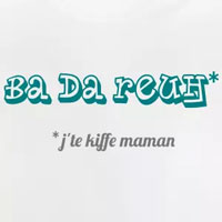tee shirt bébé humour premier mot kiffe maman