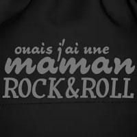 tee shirt enfant bébé humour maman rock'n'roll qui déchire