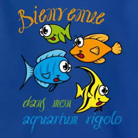 tee shirt enfant bébé aquarium rigolo poisson