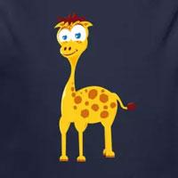 tee shirt enfant bébé girafe