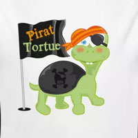 tee shirt enfant bébé tortue pirate