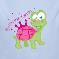 tee shirt enfant bébé tortue princesse