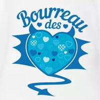 tee shirt enfant bébé humour bourreau des coeurs bleu