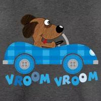 tee shirt enfant bébé chien voiture