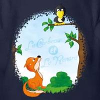 tee shirt enfant fable corbeau et le renard lafontaine