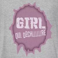 tee shirt enfant bébé fille girl qui déchire