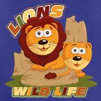 tee shirt enfant bébé lions