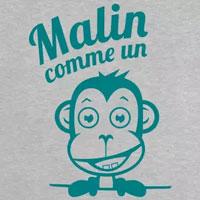 tee shirt enfant malin comme un singe