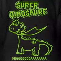 tee shirt enfant bébé super dinosaure