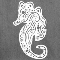 tee shirt hippocampe tatouage silhouette ombre