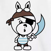 tee shirt enfant bébé lapin doudou pirate