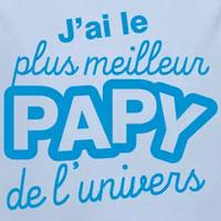 tee shirt enfant bébé plus meilleur papy de l'univers
