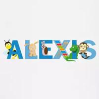 tee shirt enfant bébé prénom alexis