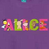 tee shirt enfant bébé prénom alice