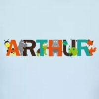 tee shirt enfant bébé prénom arthur