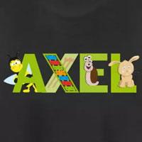 tee shirt enfant bébé prénom axel