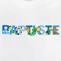 tee shirt enfant bébé prénom baptiste
