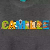 tee shirt enfant bébé prénom camille