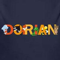 tee shirt enfant bébé prénom dorian