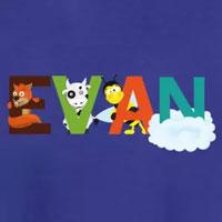 tee shirt enfant bébé prénom evan