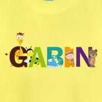 tee shirt enfant bébé prénom gabin