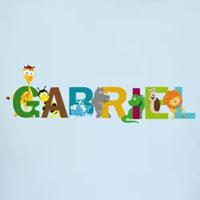 tee shirt enfant bébé prénom gabriel