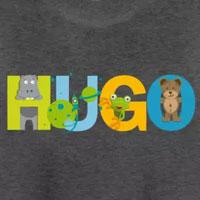 tee shirt enfant bébé prénom hugo