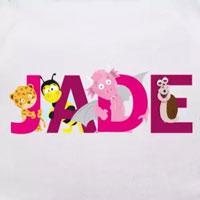 tee shirt enfant bébé prénom jade
