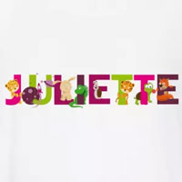 tee shirt enfant bébé prénom juliette