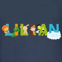tee shirt enfant bébé prénom lilian