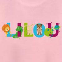tee shirt enfant bébé prénom Lilou