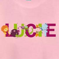 tee shirt enfant bébé prénom lucie