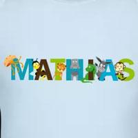 tee shirt enfant bébé prénom mathias