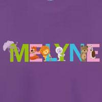 tee shirt enfant bébé prénom melyne