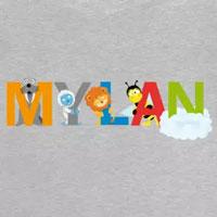 tee shirt enfant bébé prénom mylan