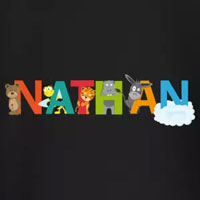 tee shirt enfant bébé prénom nathan