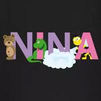 tee shirt enfant bébé prénom nina