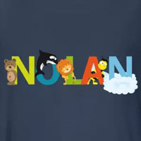 tee shirt enfant bébé prénom nolan
