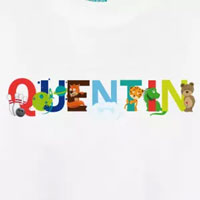 tee shirt enfant bébé prénom quentin