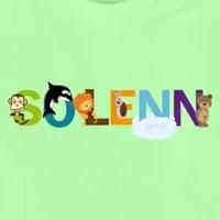 tee shirt enfant bébé prénom solenn