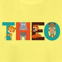 tee shirt enfant bébé prénom théo