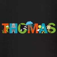 tee shirt enfant bébé prénom thomas
