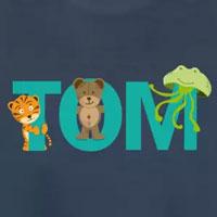 tee shirt enfant bébé prénom tom