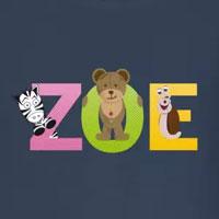 tee shirt enfant bébé prénom zoe