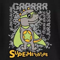 tee shirt enfant bébé superhérosaure dinosaure super héros